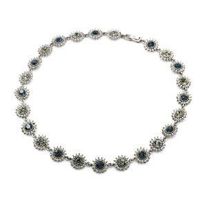 Elegant blue crystal necklace